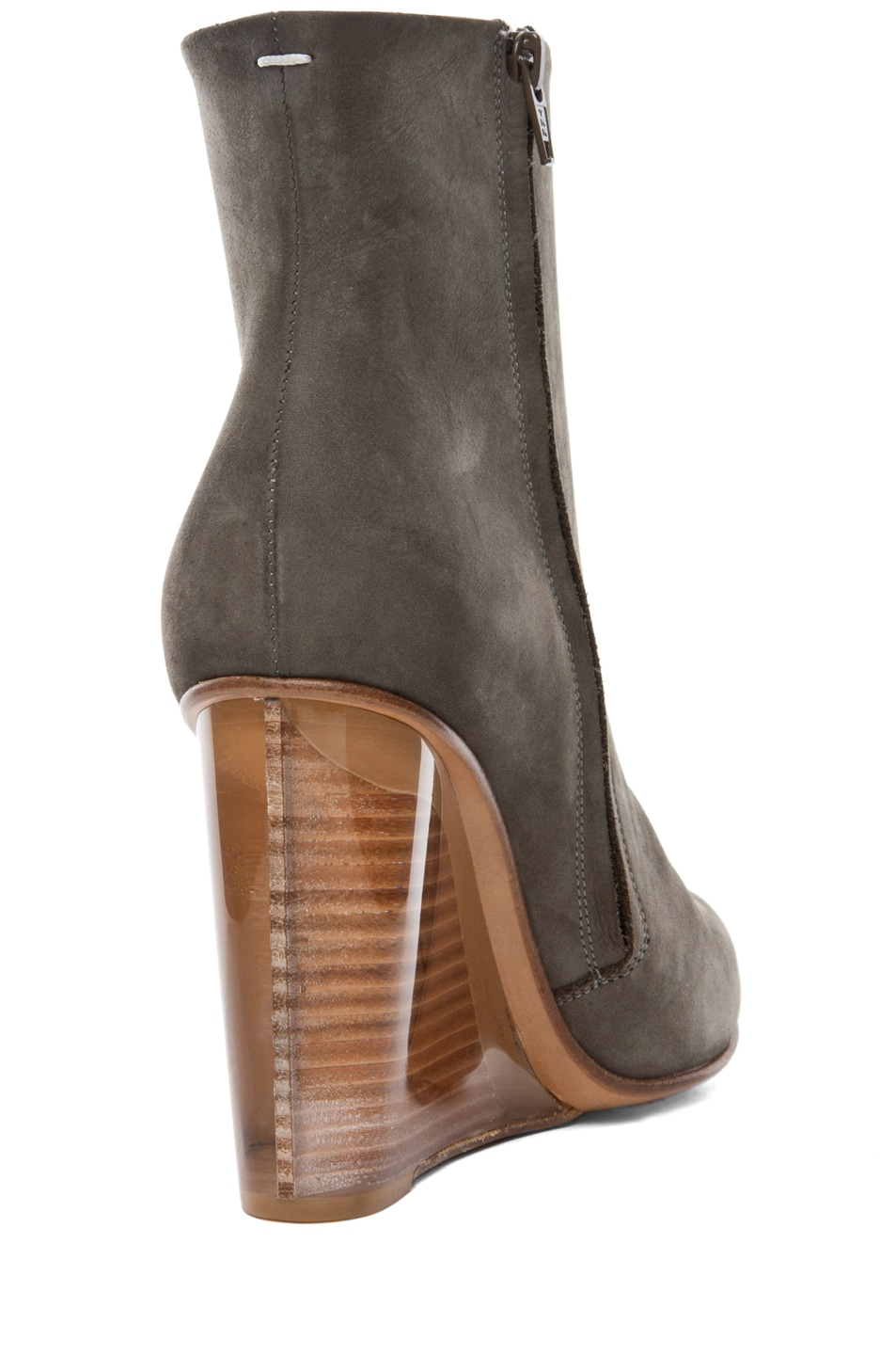 Image 3 of Maison Margiela New Plexi Wedge Bootie in Sage