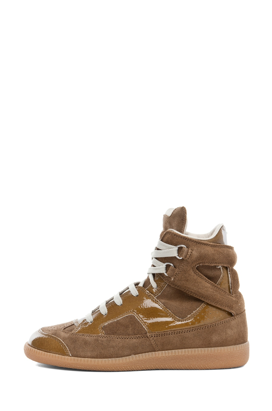 Image 1 of Maison Margiela Hi Top Sneaker in Olive
