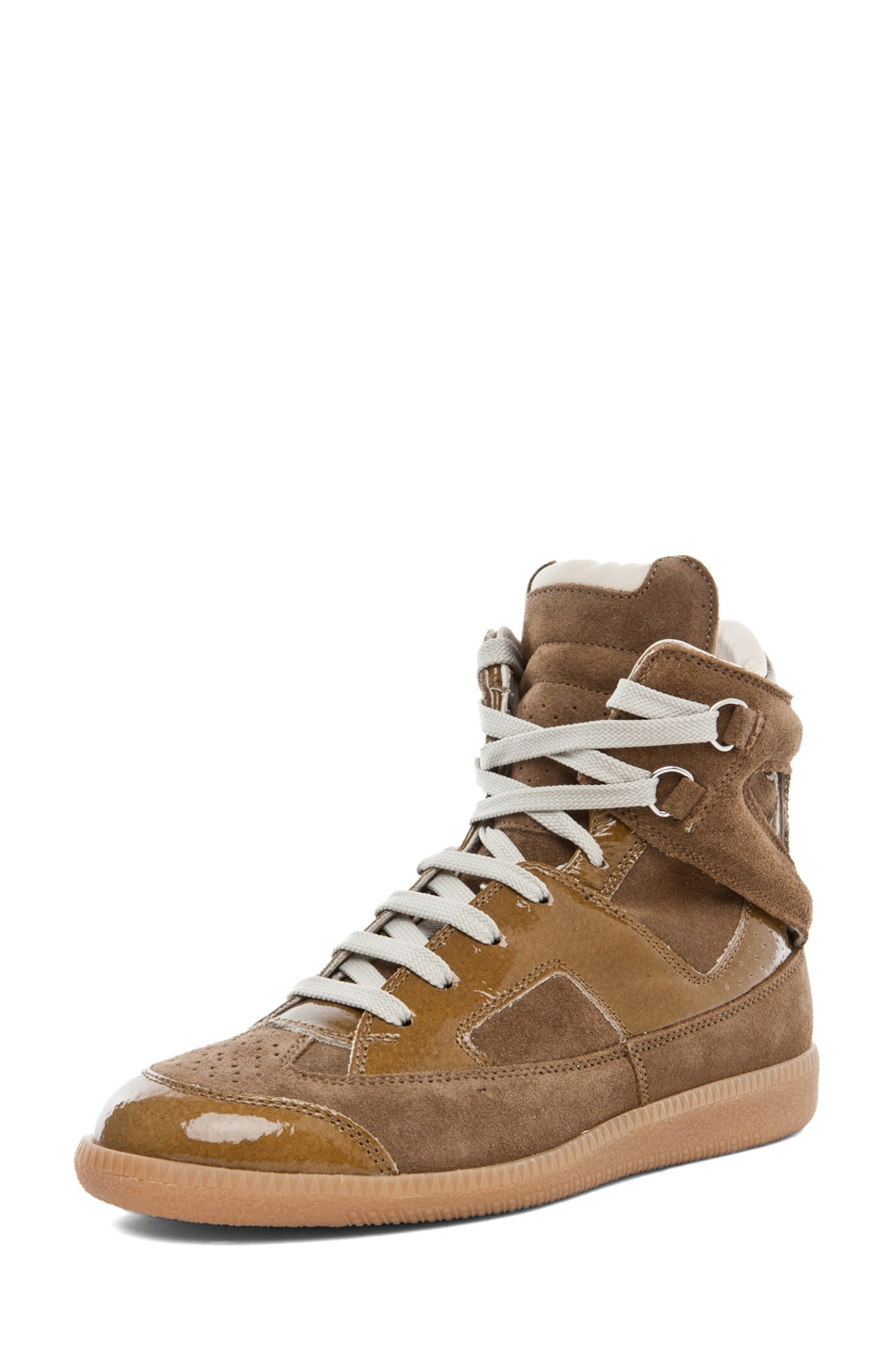 Image 2 of Maison Margiela Hi Top Sneaker in Olive