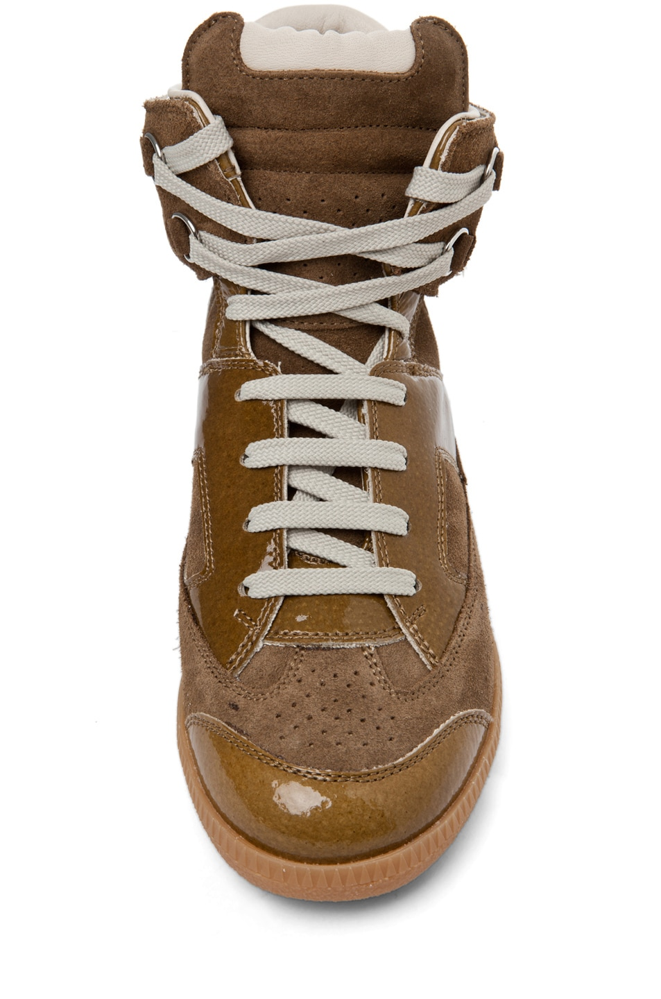 Image 4 of Maison Margiela Hi Top Sneaker in Olive
