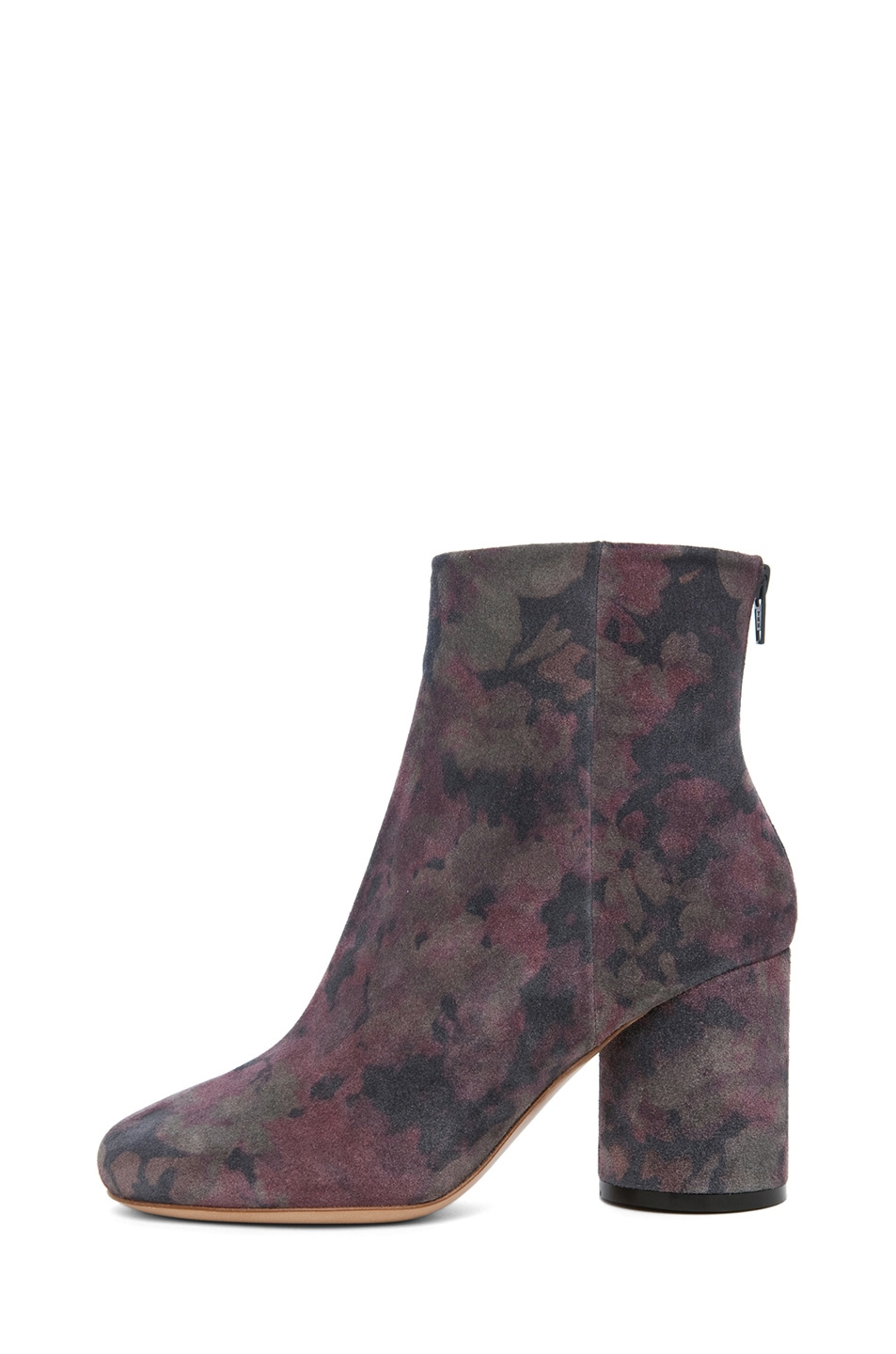 Image 1 of Maison Margiela Suede Printed Bootie in Dark Flowers
