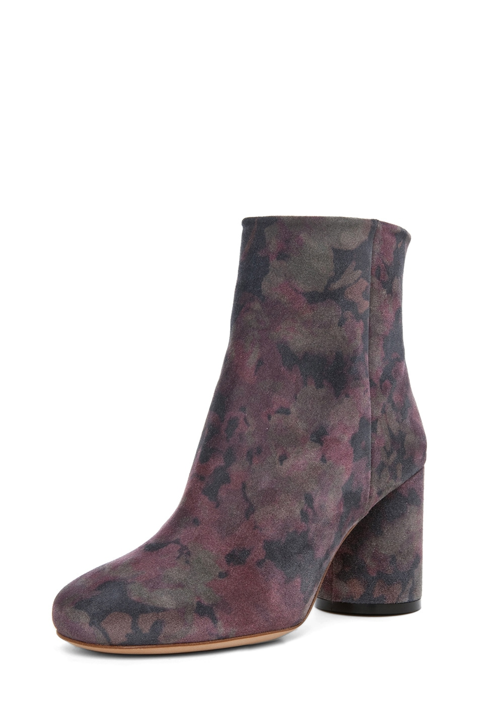 Image 2 of Maison Margiela Suede Printed Bootie in Dark Flowers