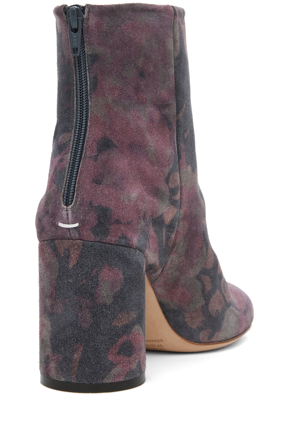 Image 3 of Maison Margiela Suede Printed Bootie in Dark Flowers