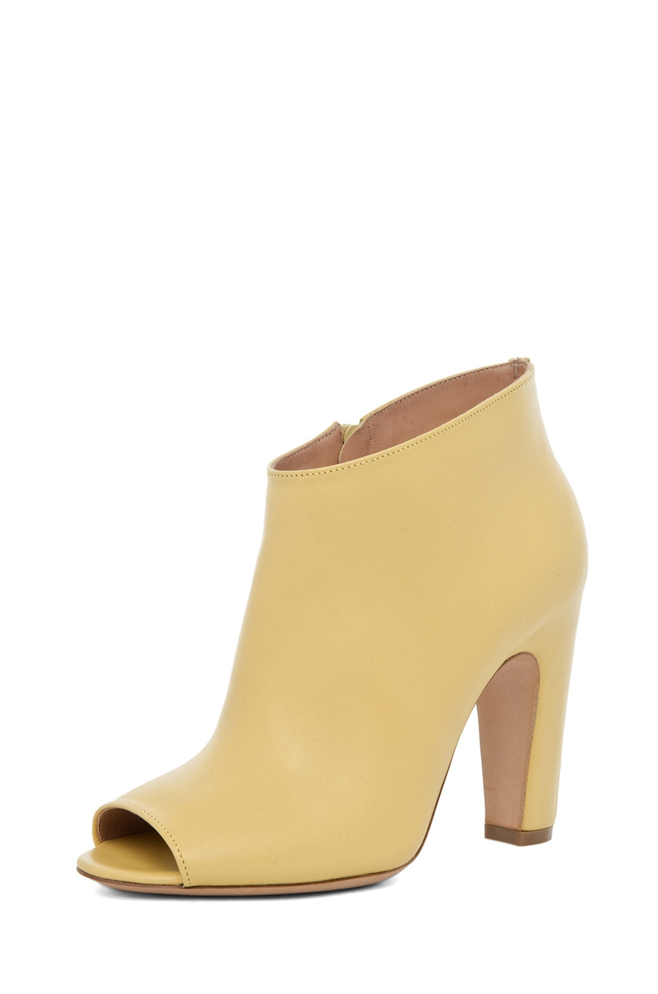 Image 2 of Maison Margiela Curved Heel Bootie in Lime