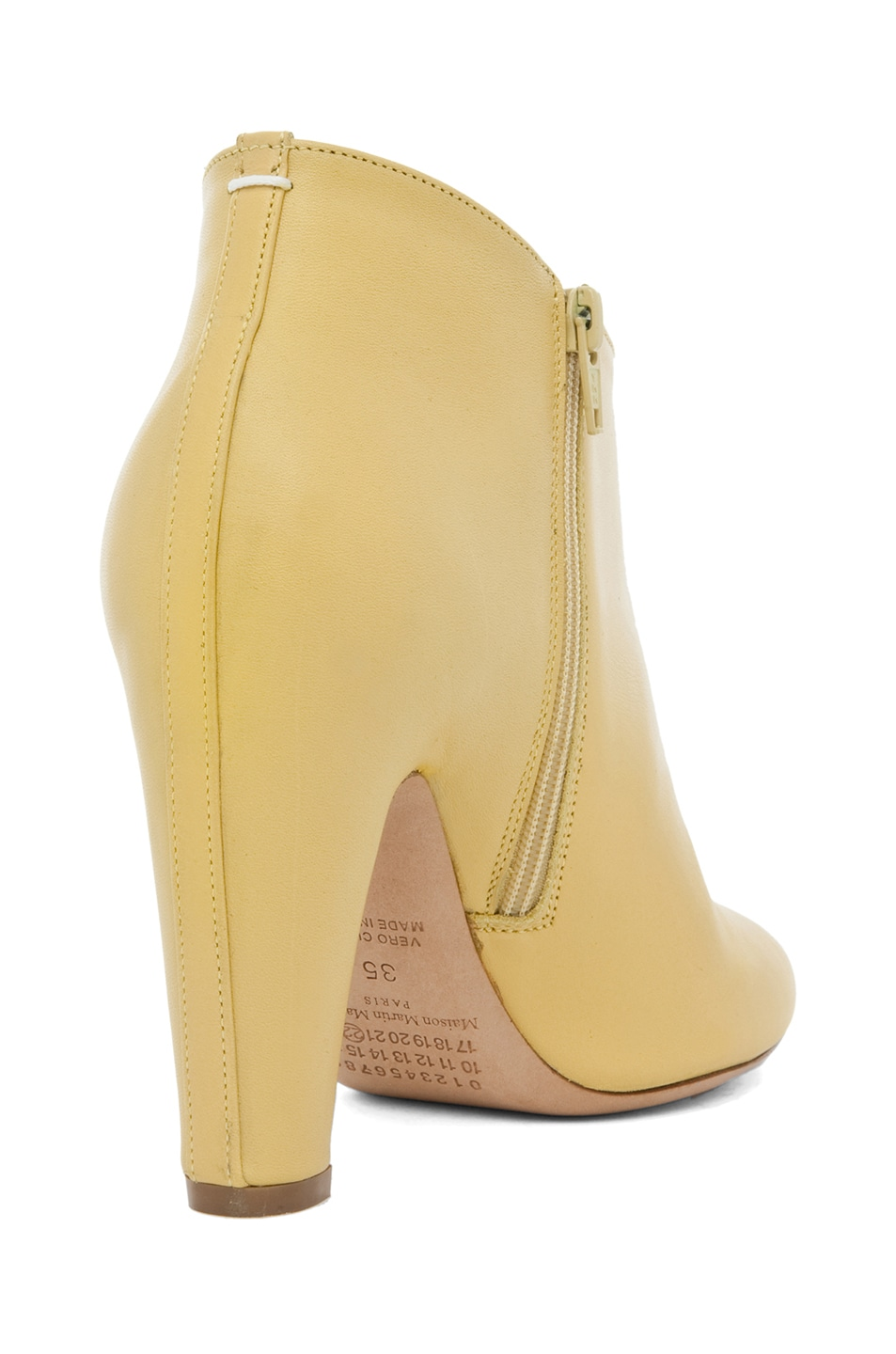 Image 3 of Maison Margiela Curved Heel Bootie in Lime