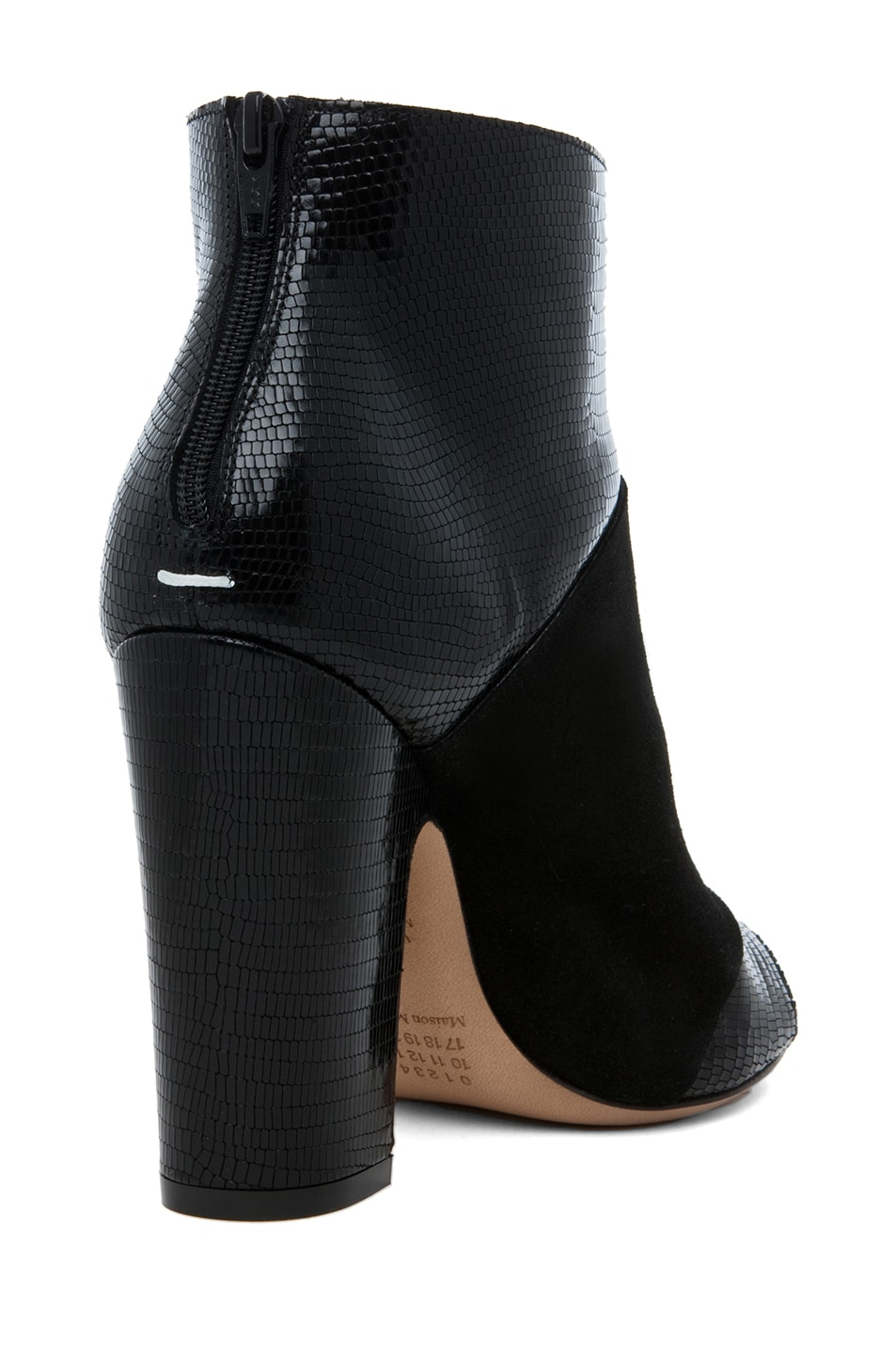 Image 3 of Maison Margiela Pliage Bootie in Black