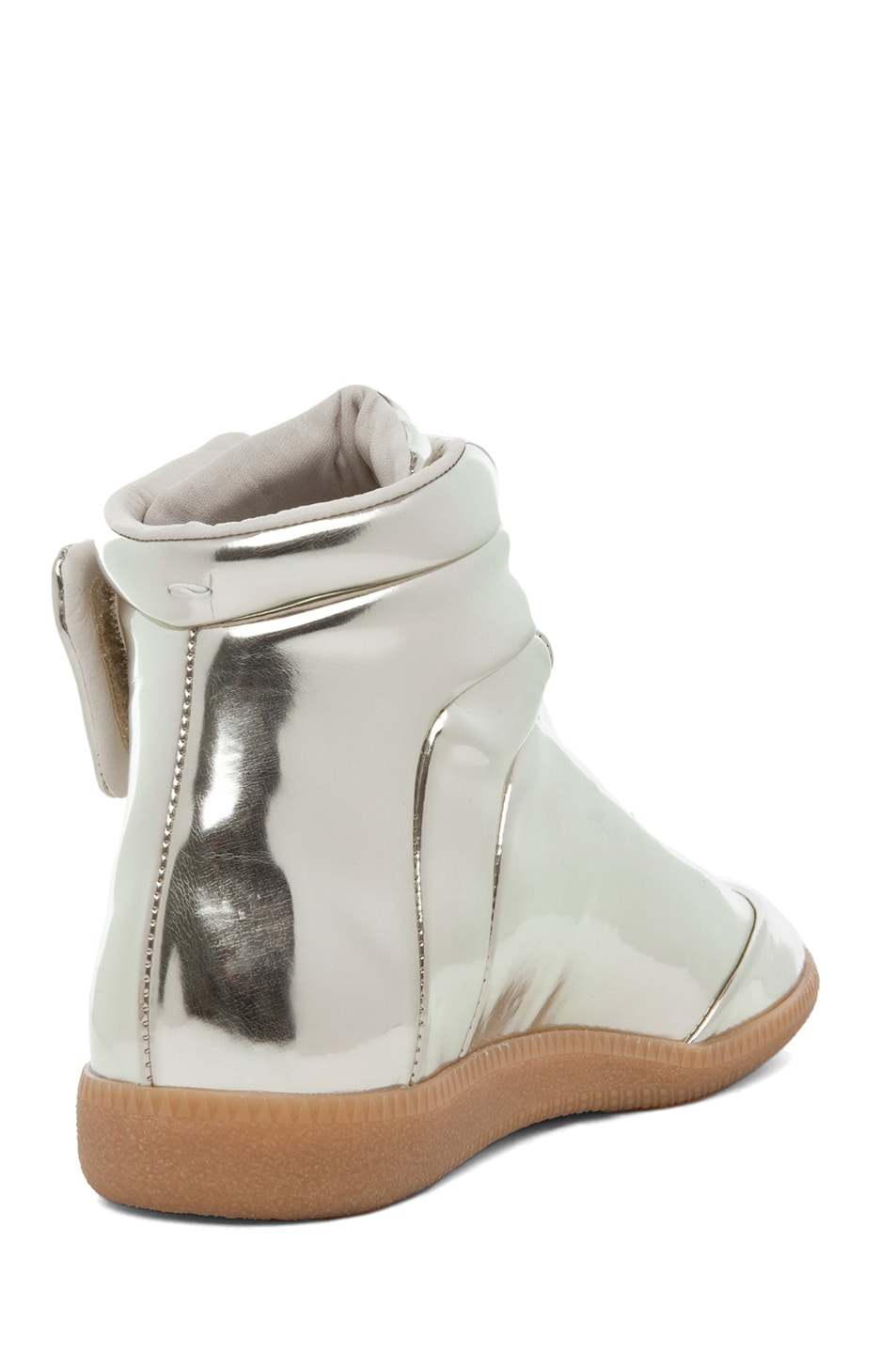 Image 3 of Maison Margiela Hi Top Sneaker in Gold