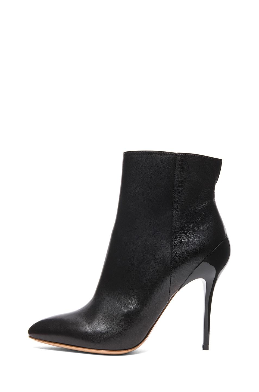 Image 1 of Maison Margiela Glazed Kid Leather Bootie in Black