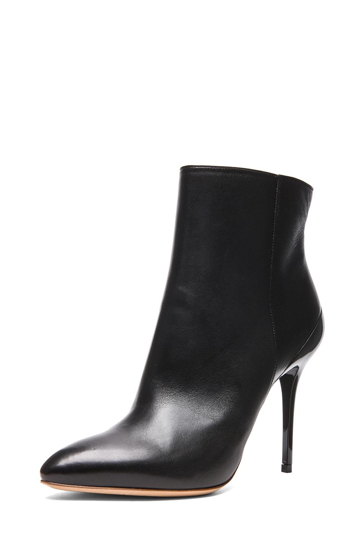 Image 2 of Maison Margiela Glazed Kid Leather Bootie in Black