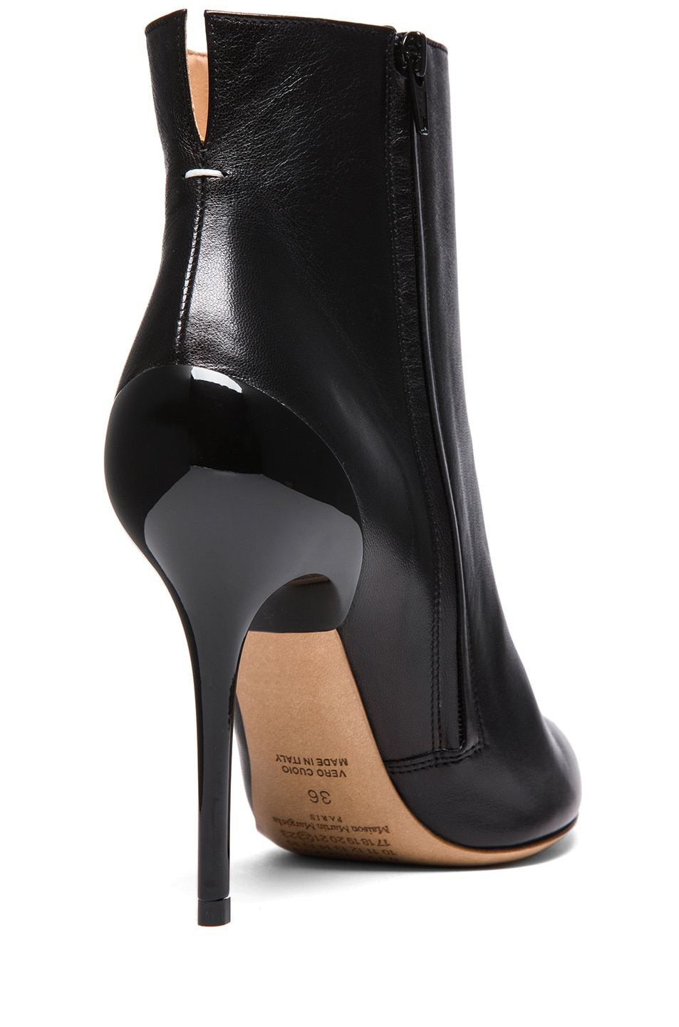 Image 3 of Maison Margiela Glazed Kid Leather Bootie in Black