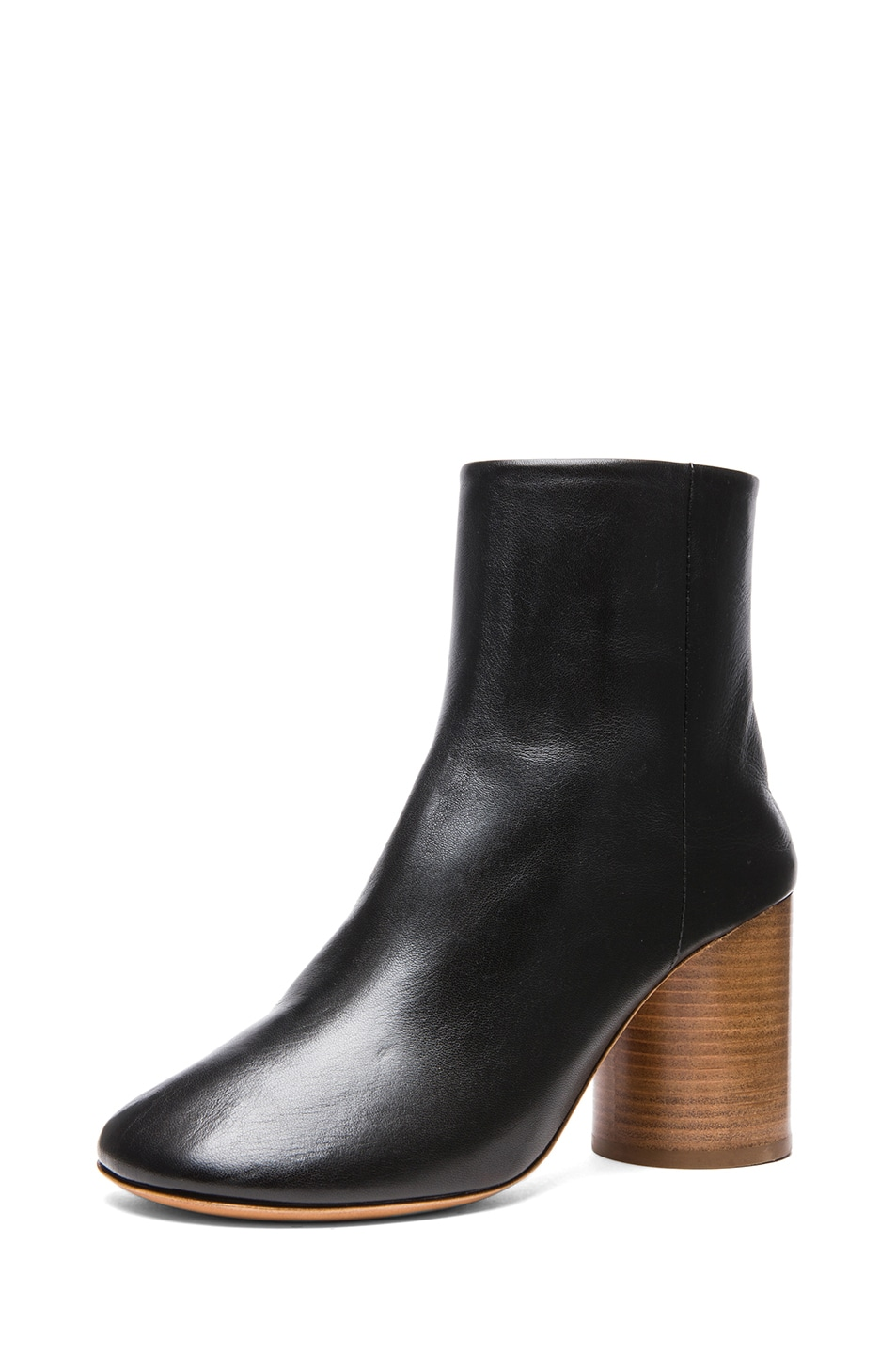 Image 2 of Maison Margiela Kid Leather Booties in Black