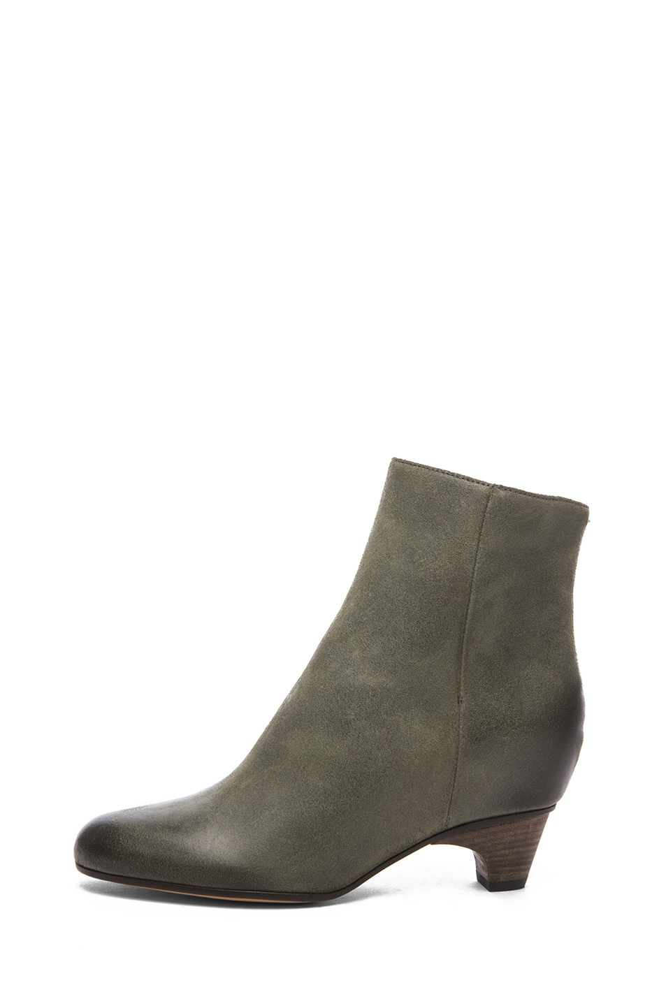 Image 1 of Maison Margiela Leather Bootie in Grey