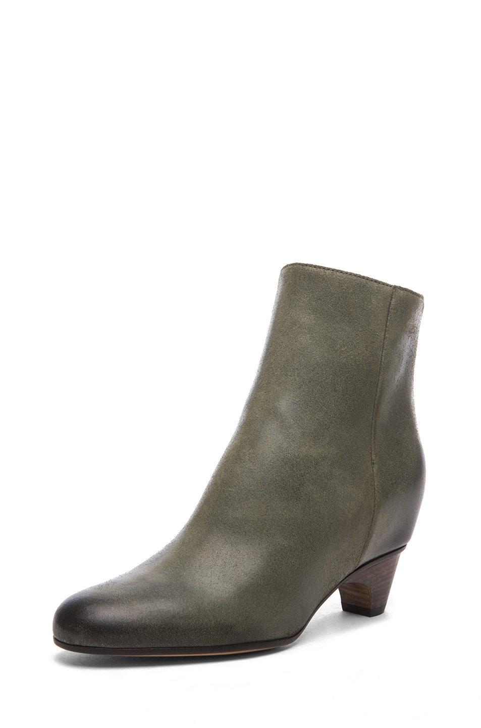 Image 2 of Maison Margiela Leather Bootie in Grey