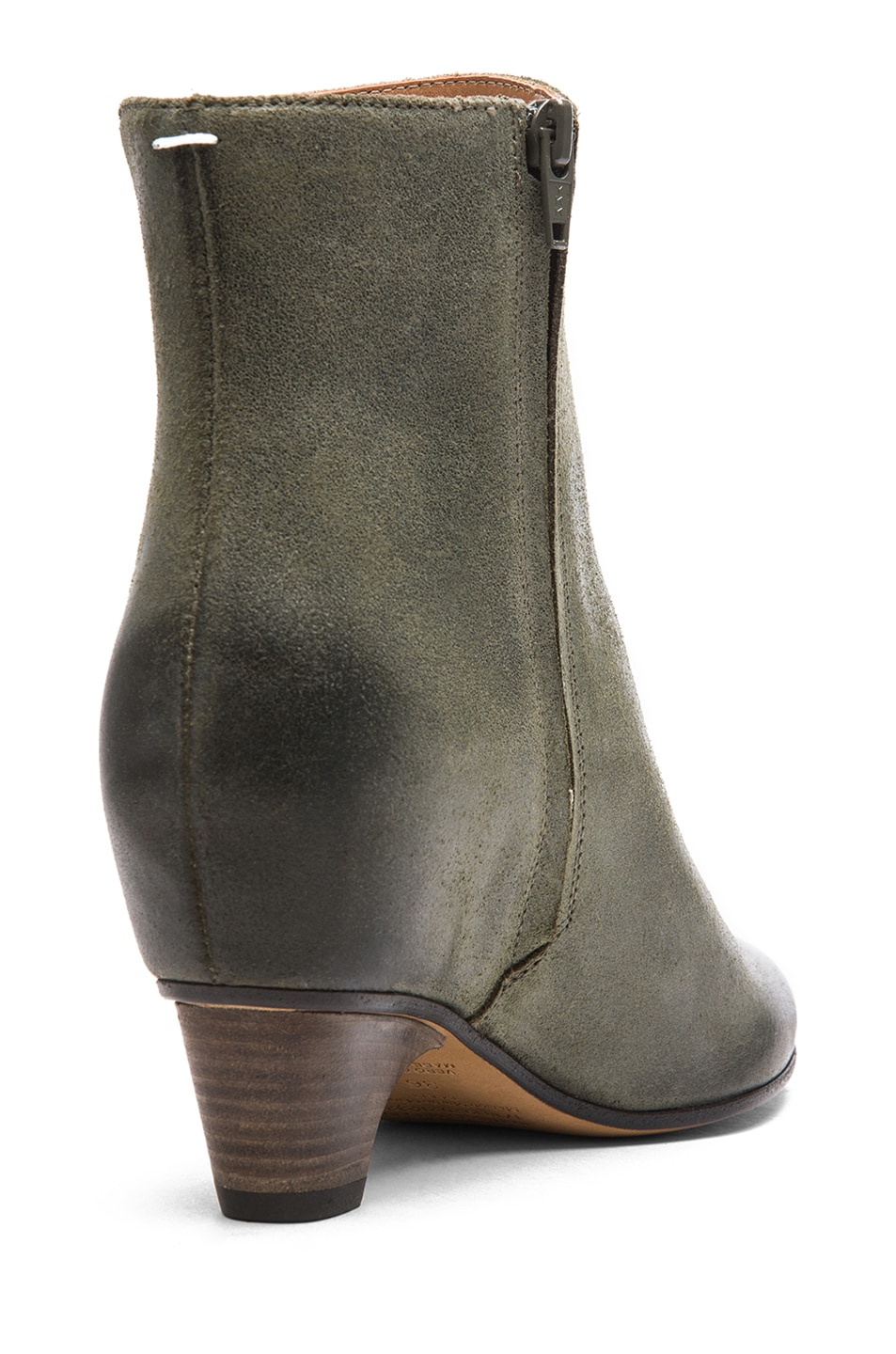 Image 3 of Maison Margiela Leather Bootie in Grey
