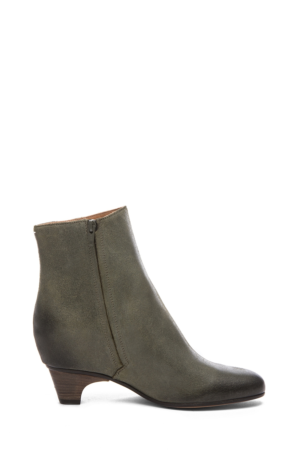 Image 5 of Maison Margiela Leather Bootie in Grey