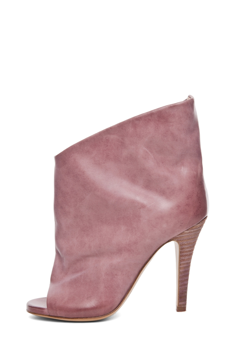 Image 1 of Maison Margiela Waxed Open Toe Bootie in Lilac