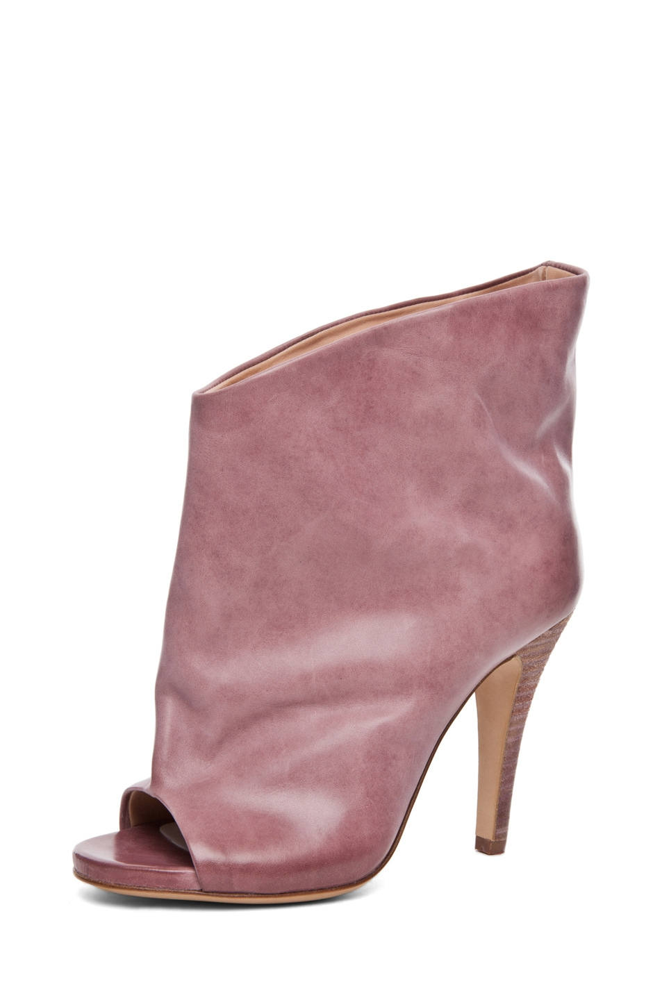 Image 2 of Maison Margiela Waxed Open Toe Bootie in Lilac