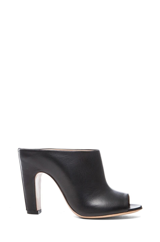 Image 1 of Maison Margiela Open Toe Leather Mules in Black