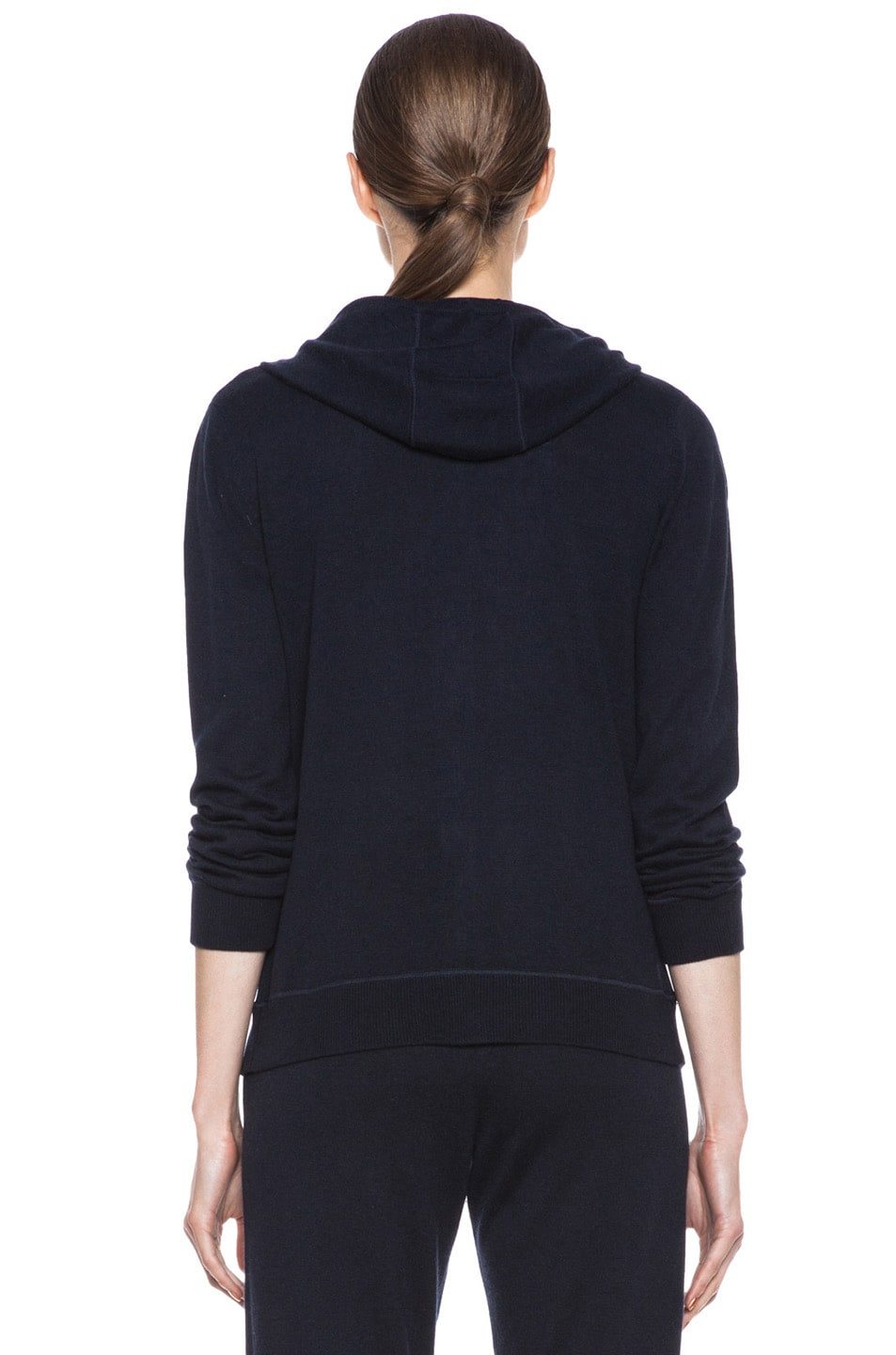 Image 5 of MONCLER Cashmere Zip Swearer in Navy