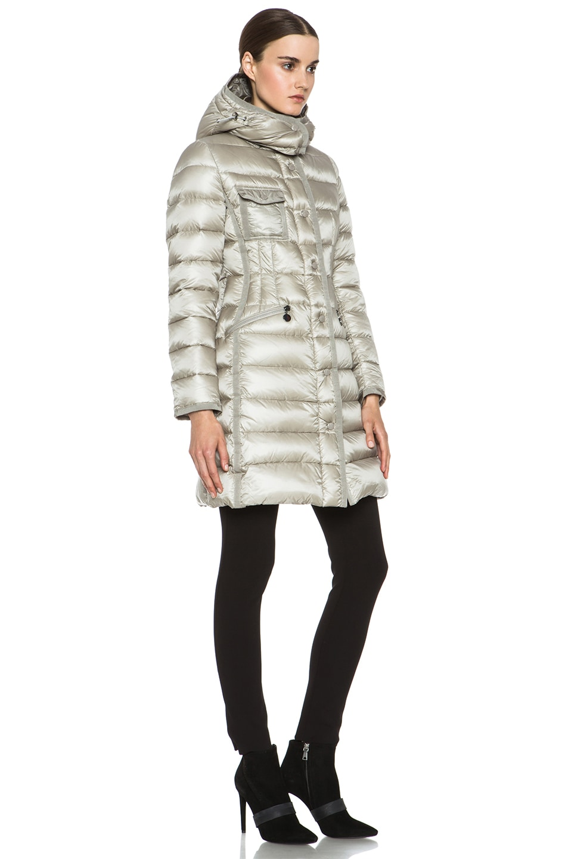 Image 4 of MONCLER Hermine Coat in Beige
