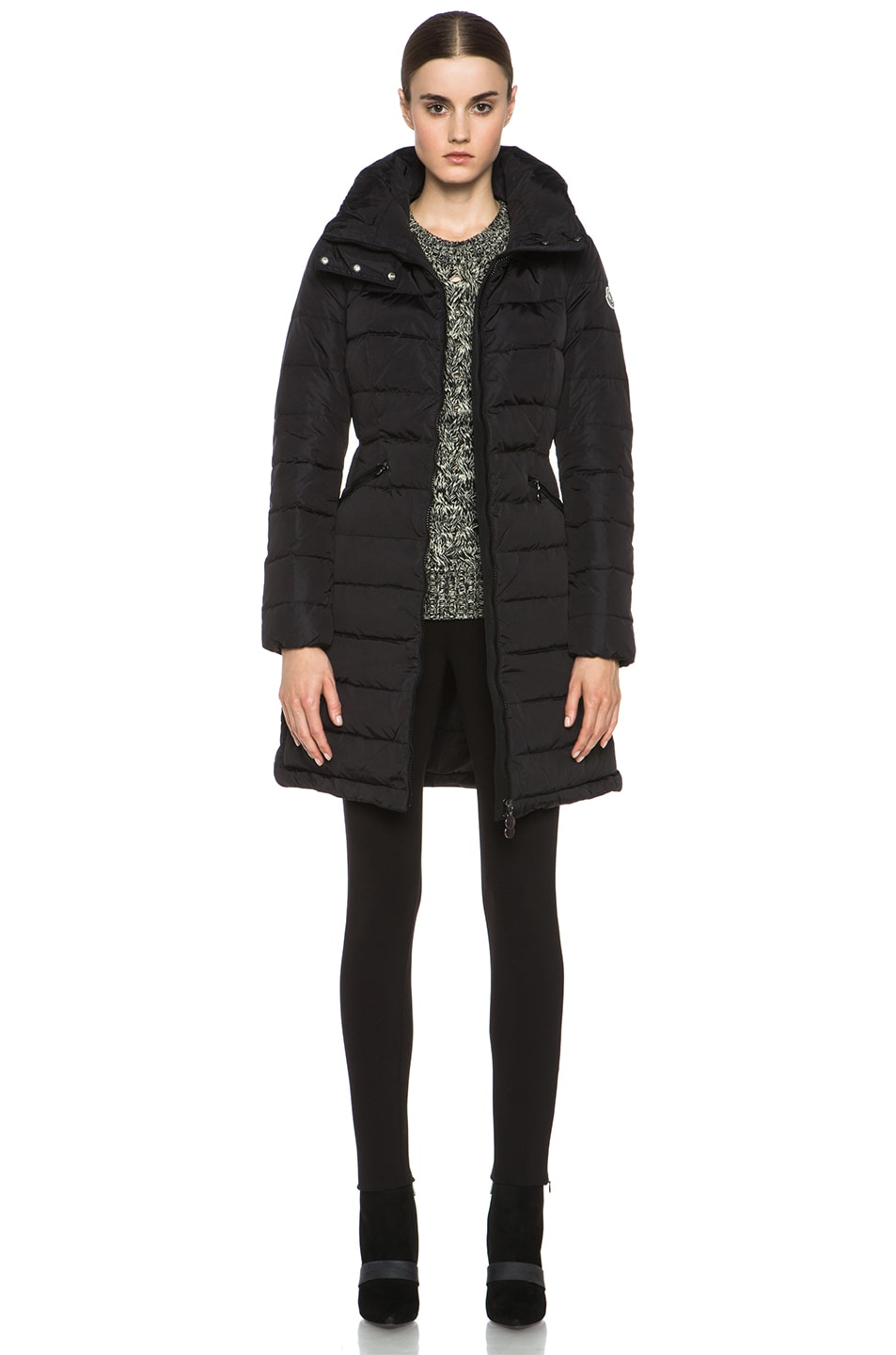 Image 1 of MONCLER Flamme Coat in Black