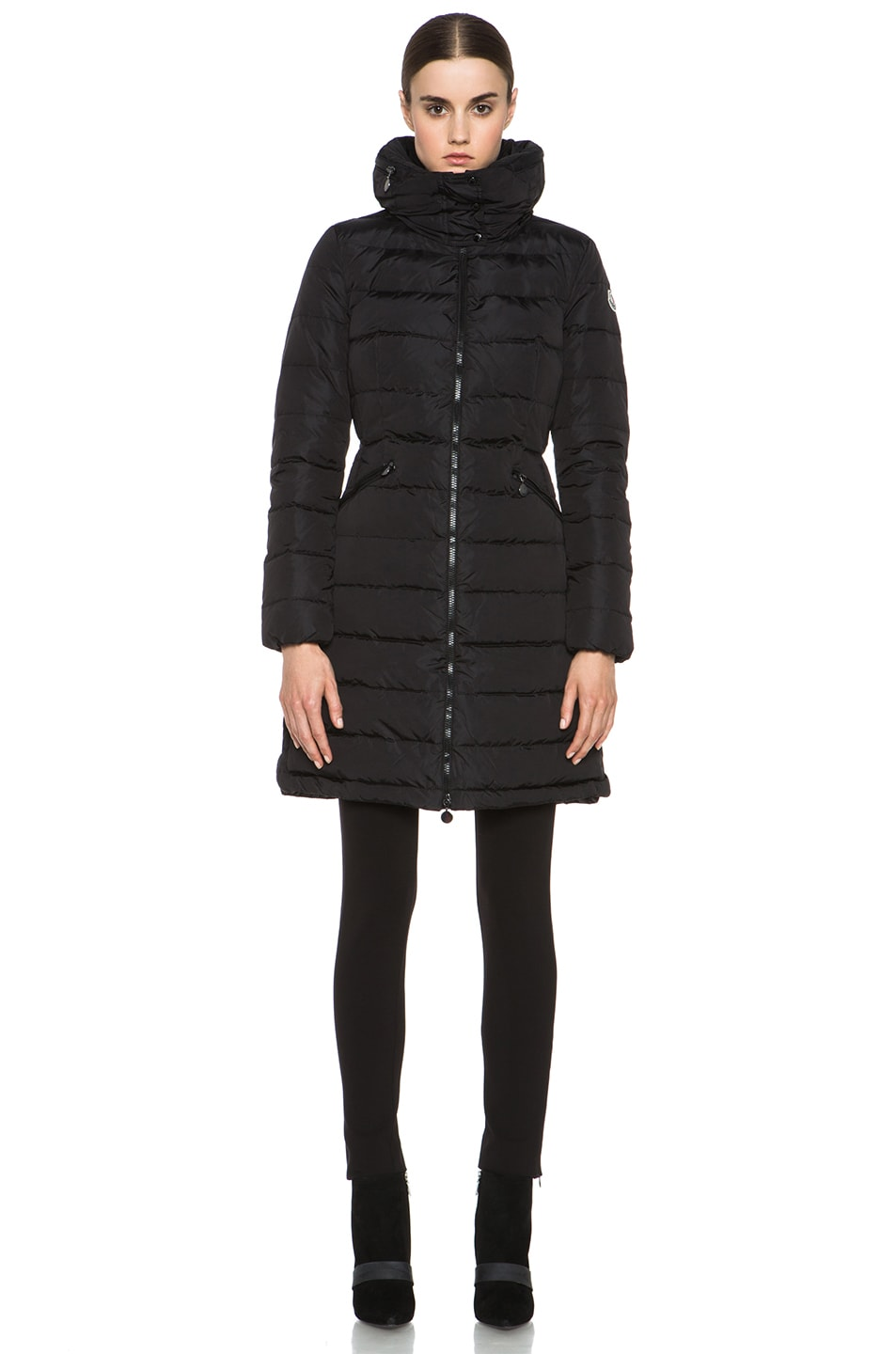 Image 2 of MONCLER Flamme Coat in Black