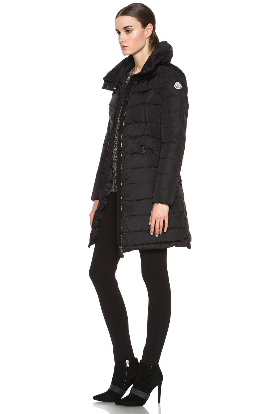 Image 3 of MONCLER Flamme Coat in Black