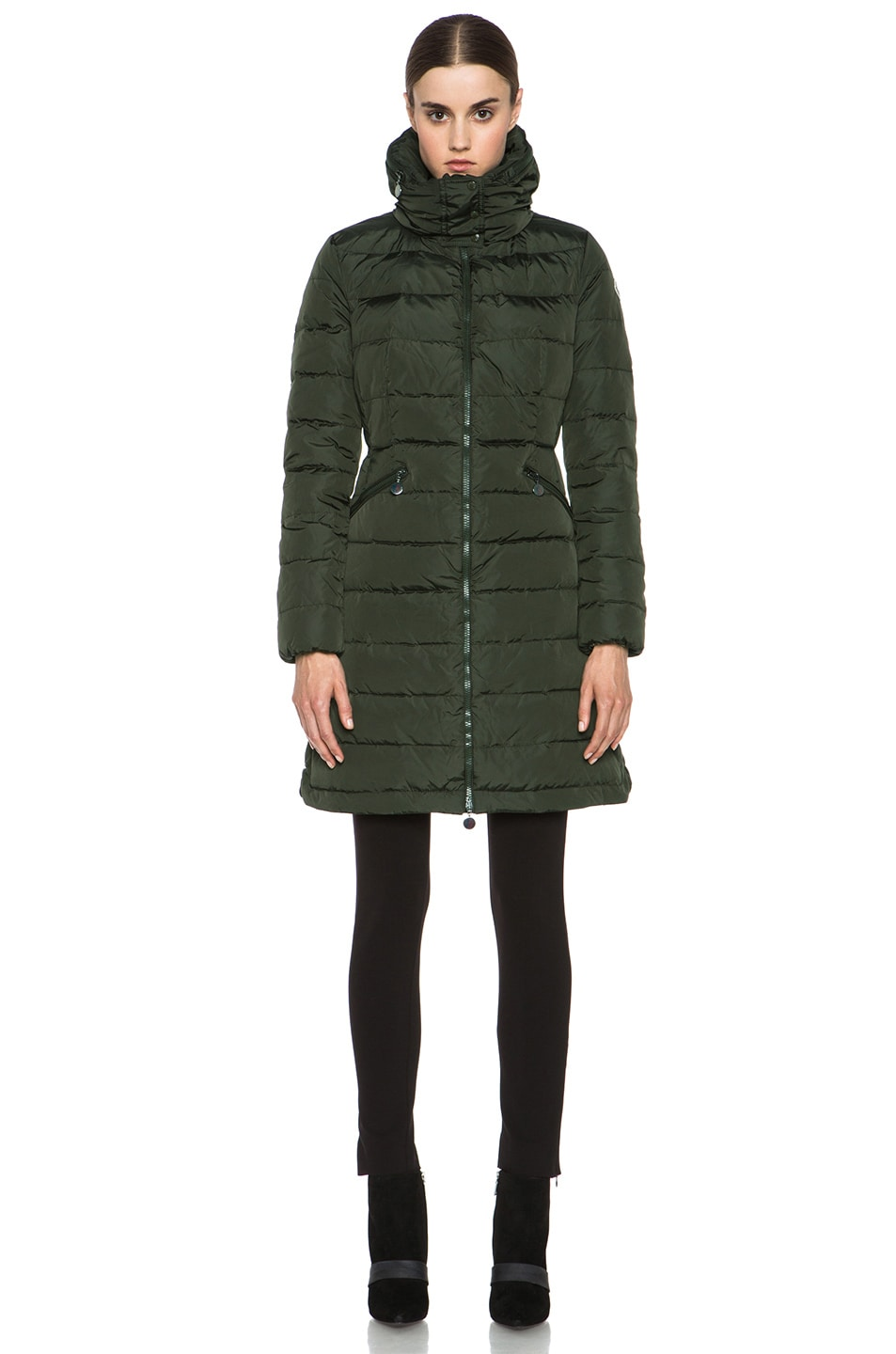 Image 2 of MONCLER Flamme Coat in Olive
