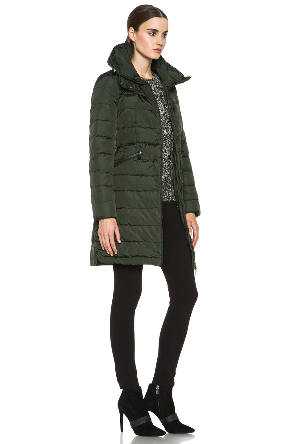 Image 4 of MONCLER Flamme Coat in Olive