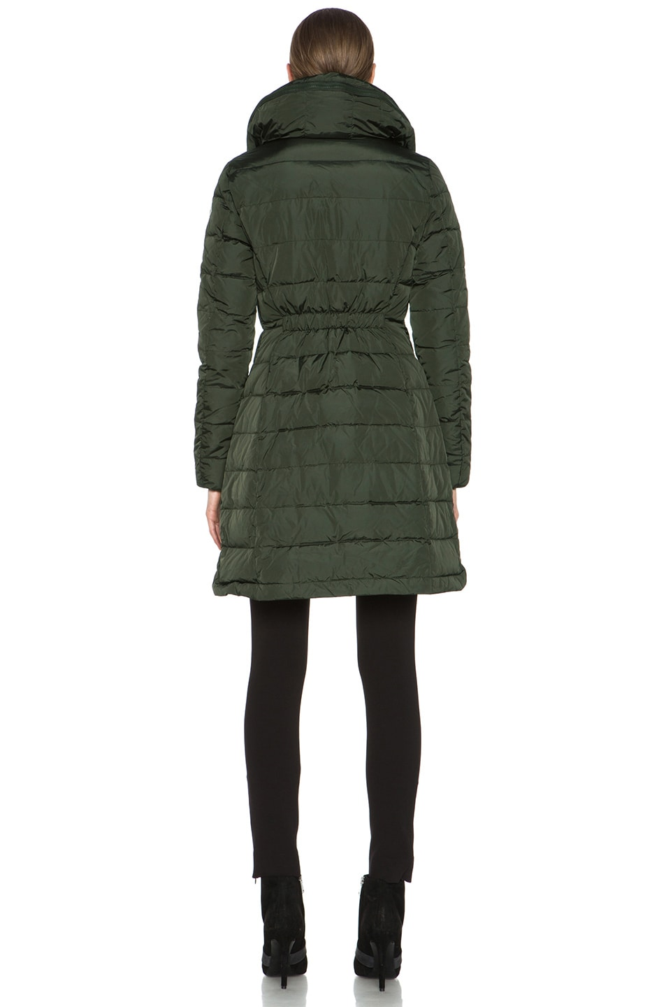 Image 5 of MONCLER Flamme Coat in Olive