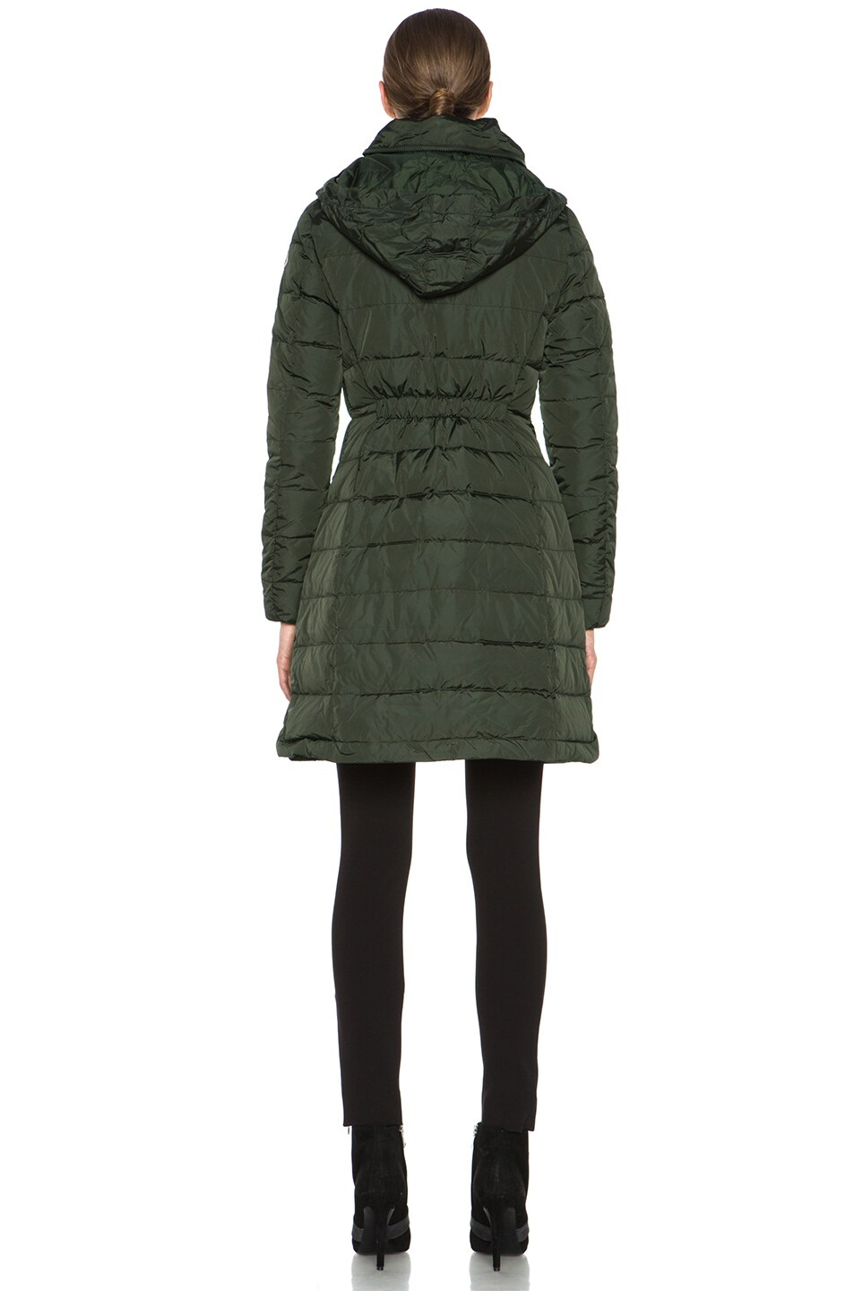 Image 6 of MONCLER Flamme Coat in Olive