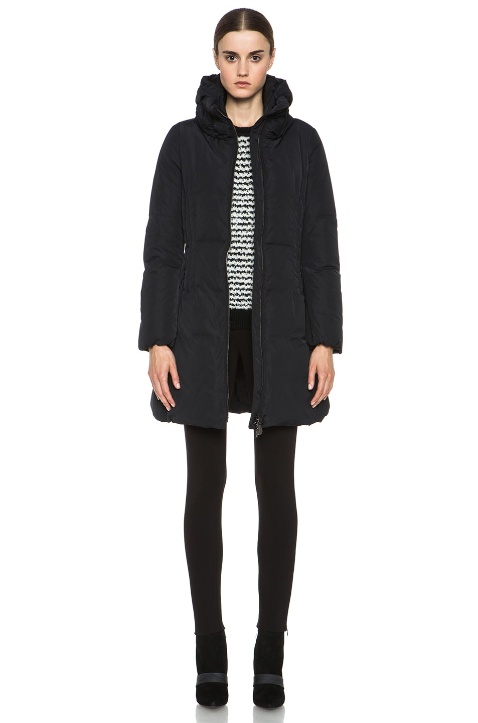 Image 1 of MONCLER Renne Coat in Black