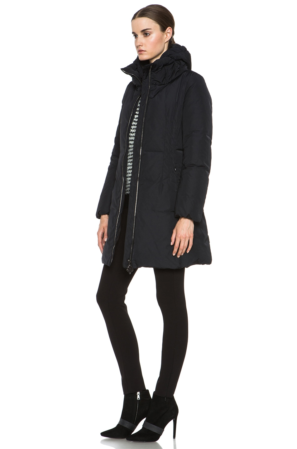 Image 3 of MONCLER Renne Coat in Black