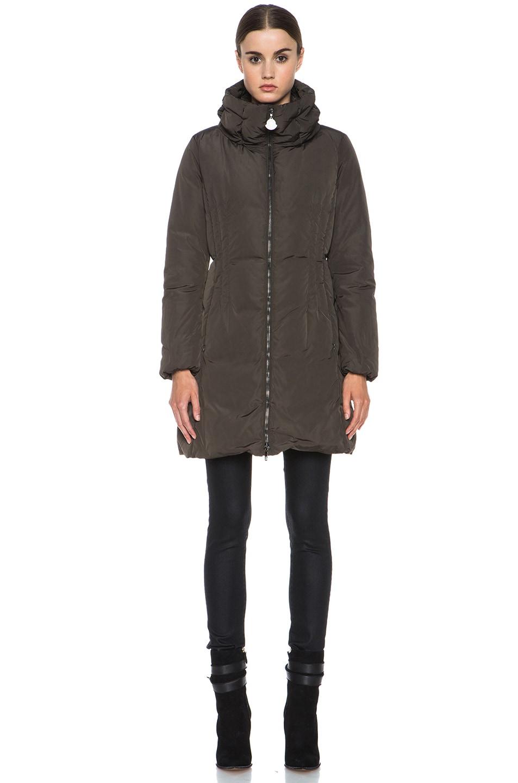 Image 2 of MONCLER Renne Poly Coat in Olive