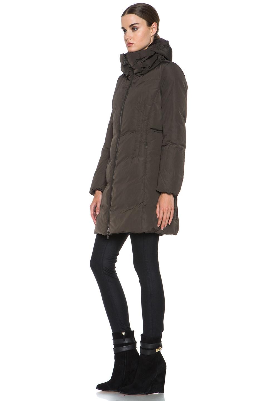 Image 3 of MONCLER Renne Poly Coat in Olive