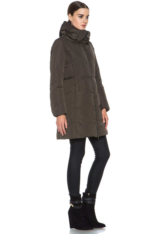 Image 4 of MONCLER Renne Poly Coat in Olive