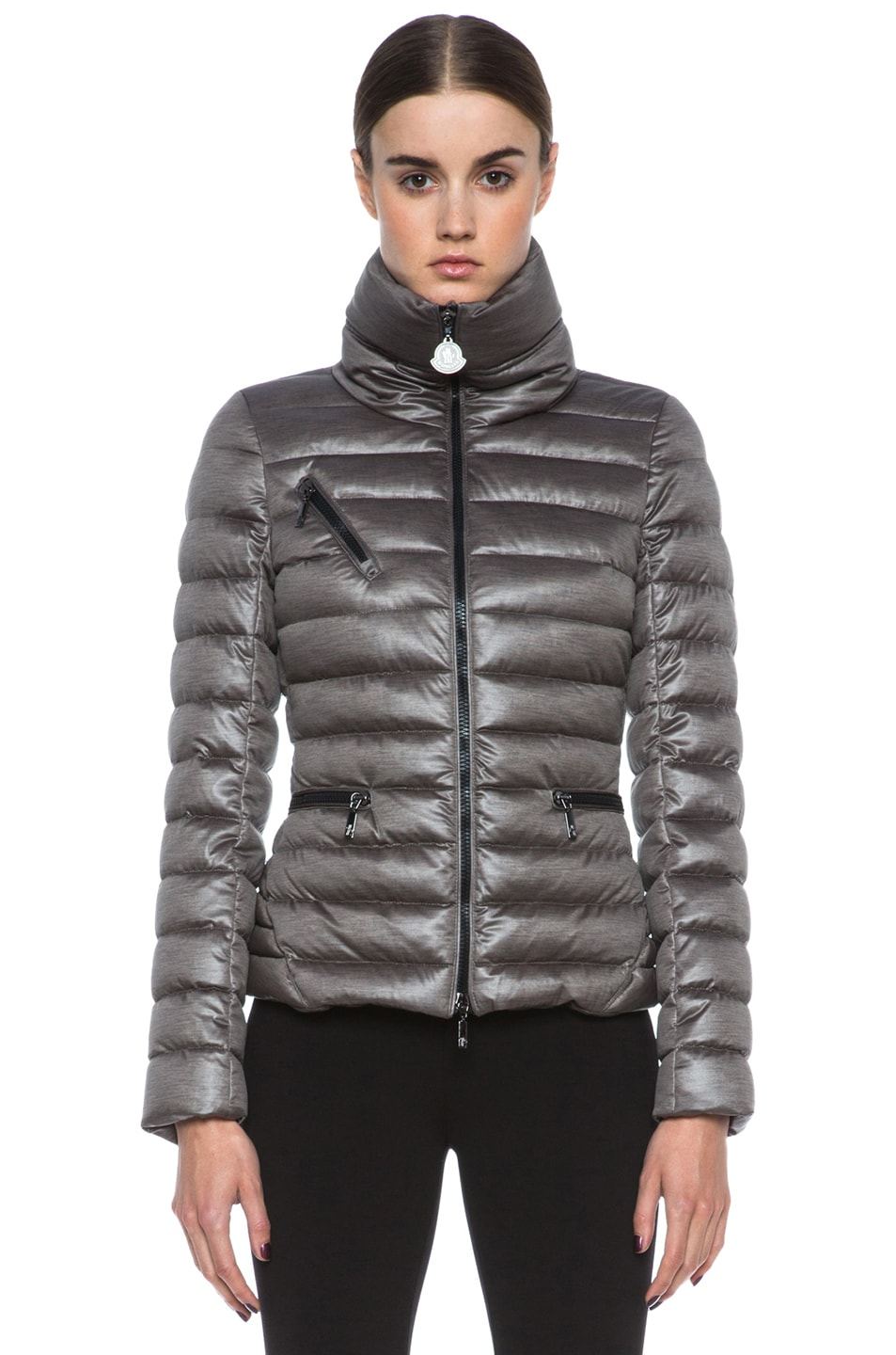 Image 2 of MONCLER Suisse Poly Jacket in Taupe
