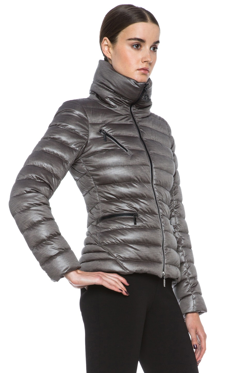 Image 4 of MONCLER Suisse Poly Jacket in Taupe