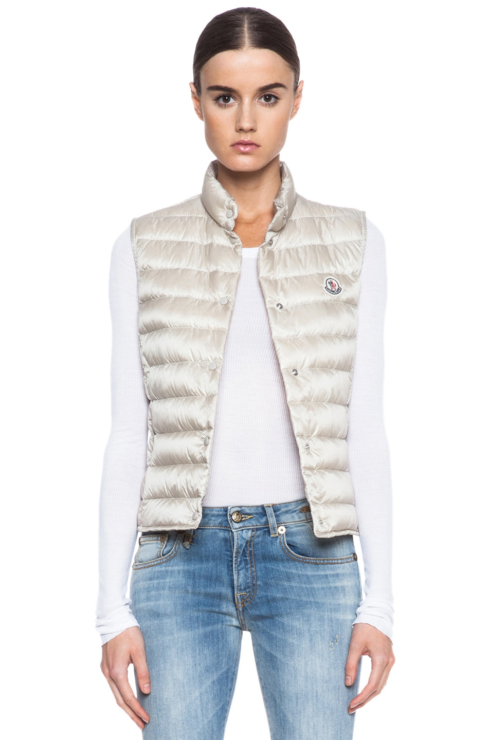 Image 1 of MONCLER Liane Polyamide Vest in Bone