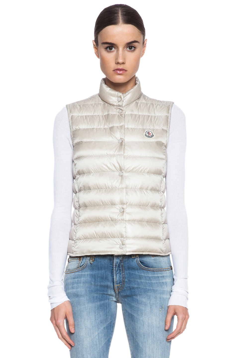 Image 2 of MONCLER Liane Polyamide Vest in Bone