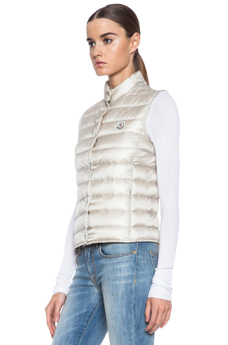 Image 3 of MONCLER Liane Polyamide Vest in Bone