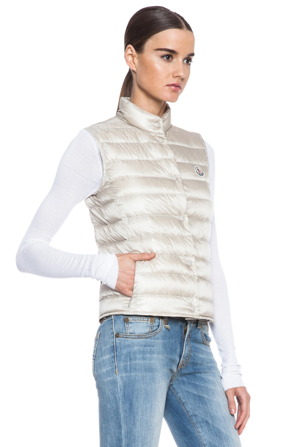 Image 4 of MONCLER Liane Polyamide Vest in Bone