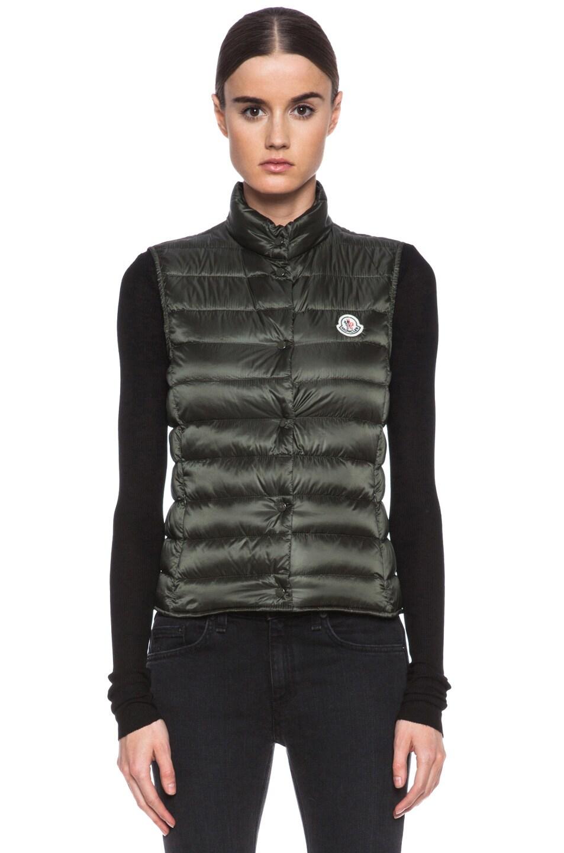 Image 2 of MONCLER Liane Polyamide Vest in Olive