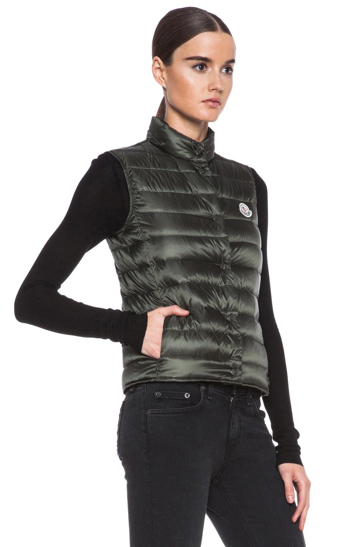 Image 4 of MONCLER Liane Polyamide Vest in Olive