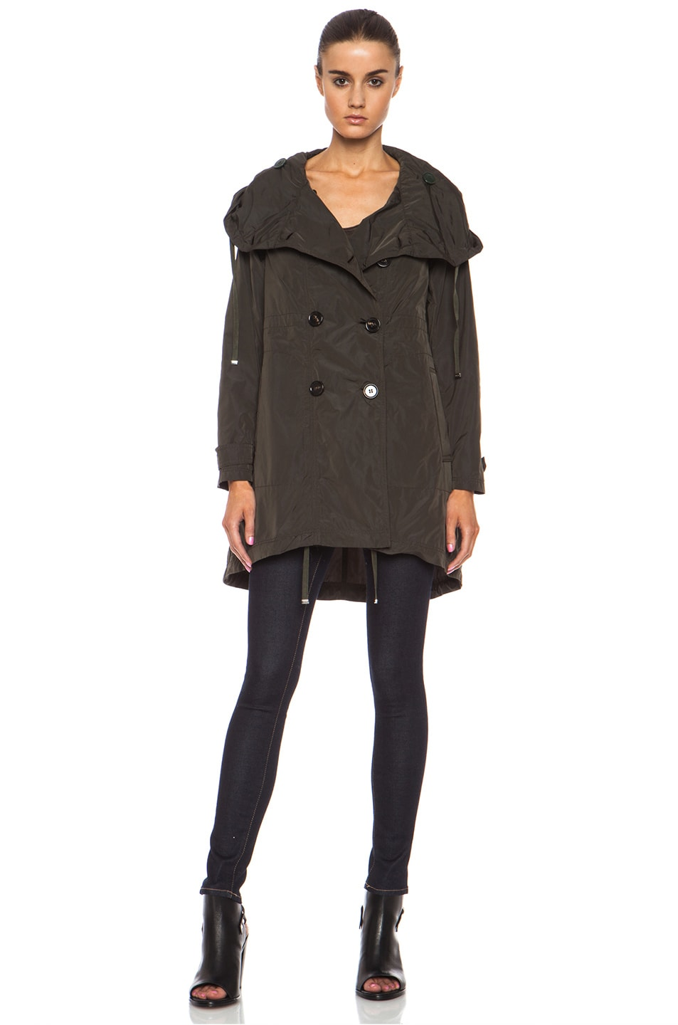 Image 2 of MONCLER Baillet Polyamide Coat in Olive