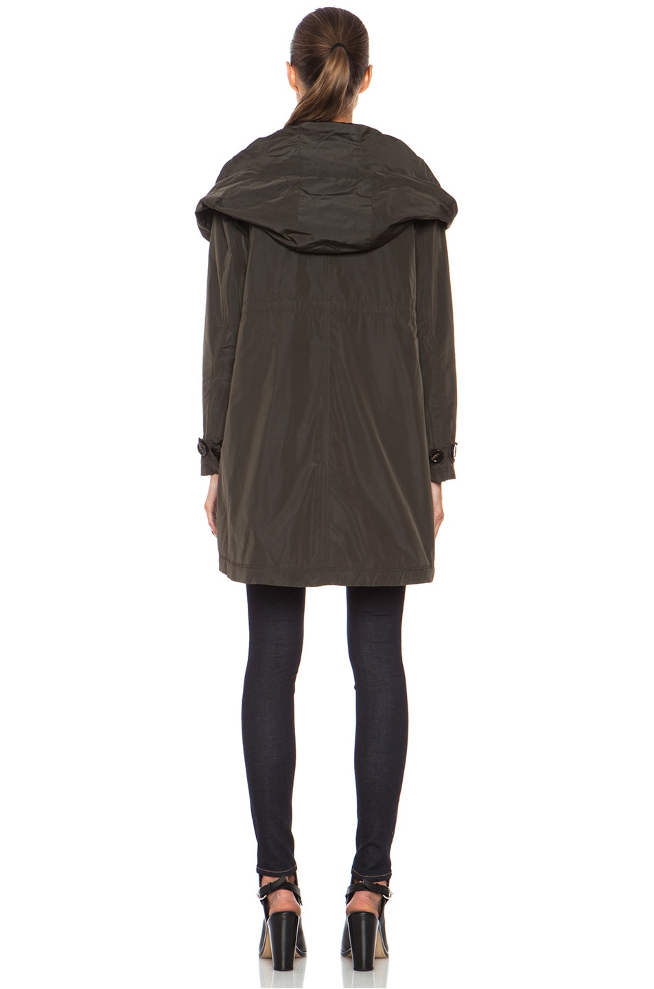 Image 5 of MONCLER Baillet Polyamide Coat in Olive