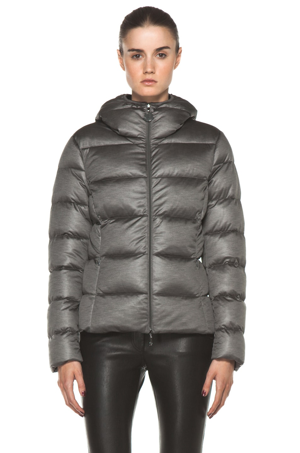 Image 2 of Moncler Jersey Poly Jacket in Charcoal