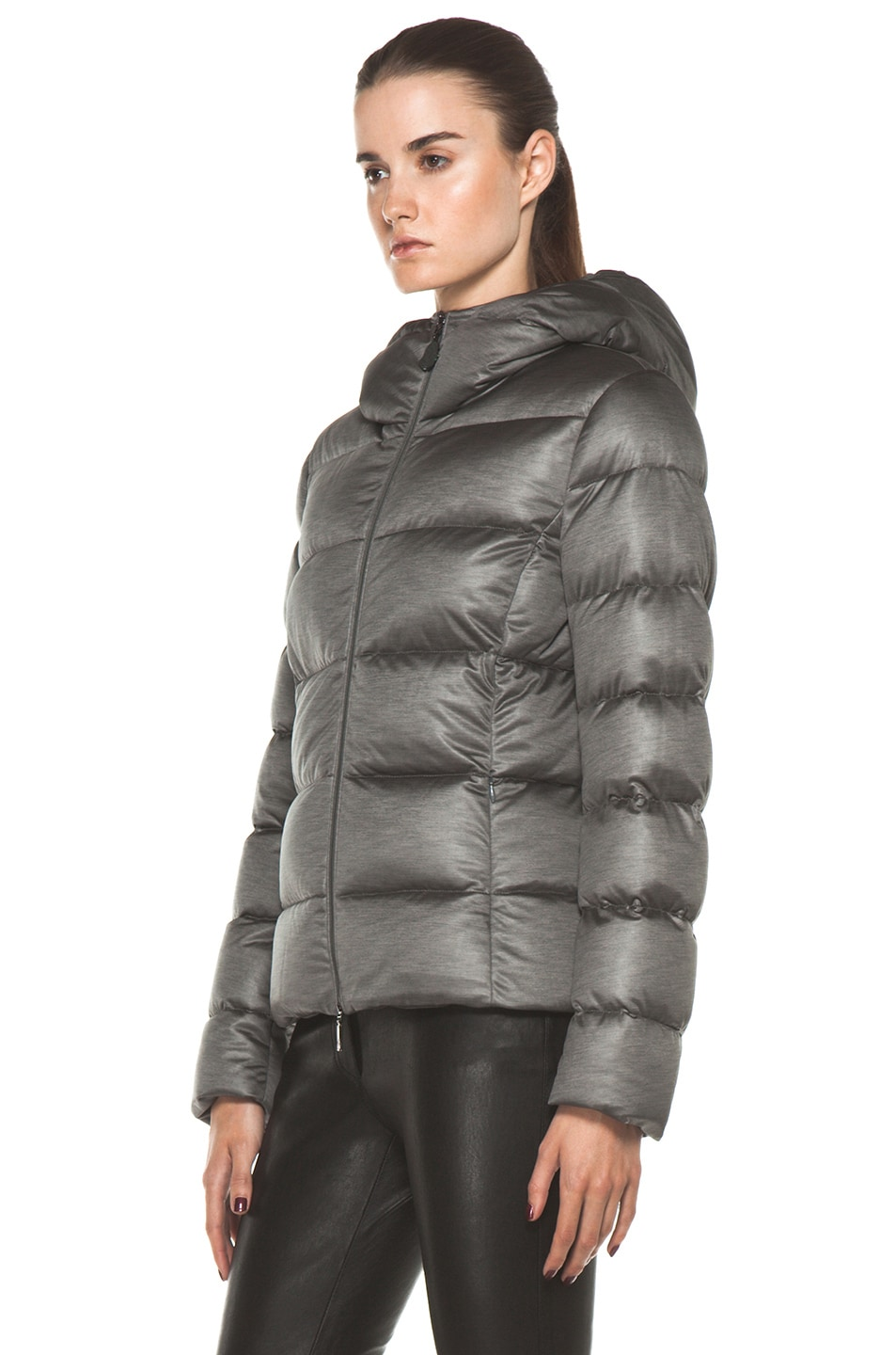 Image 3 of Moncler Jersey Poly Jacket in Charcoal