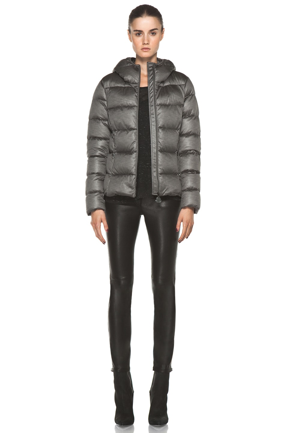 Image 6 of Moncler Jersey Poly Jacket in Charcoal