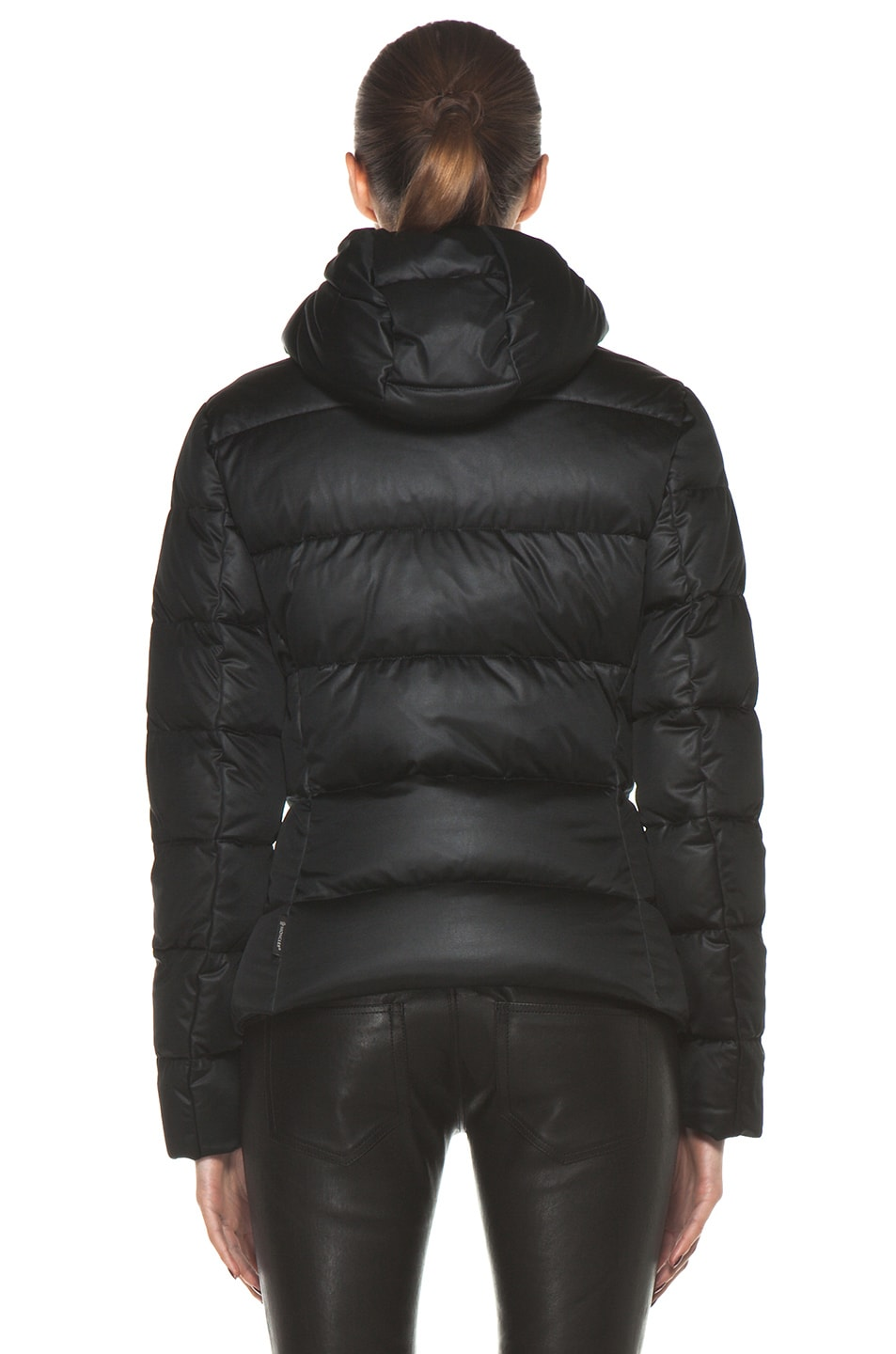 Image 5 of Moncler Jersey Coat in Black